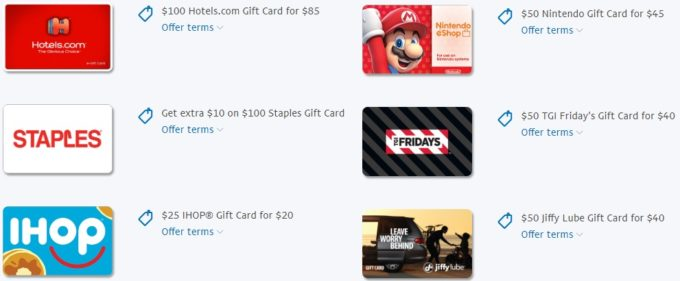 b4706f41133d Example of PayPal Digital Gifts discounted gift cards