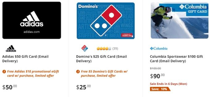 pretty nice 298b6 257b4 Example of discounted gift cards on Newegg