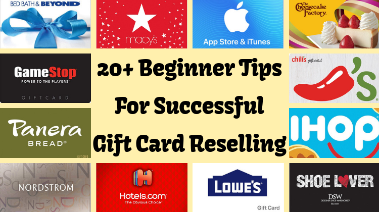 20+ Beginner Tips For Successful Gift Card Reselling - GC Galore