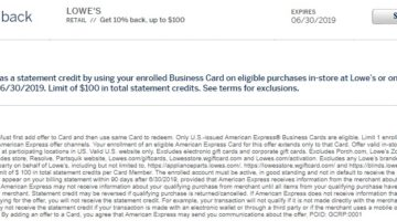 Lowe's Amex Offer 10% Back $100
