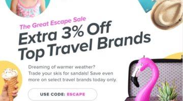 Raise 3% off travel