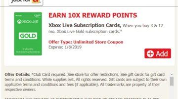 Safeway 10x Xbox Live Subscription