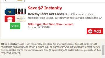 Safeway Best Buy JCPenney $7 Off $50