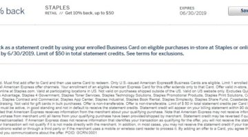 Staples Amex Offer 10% Back $50