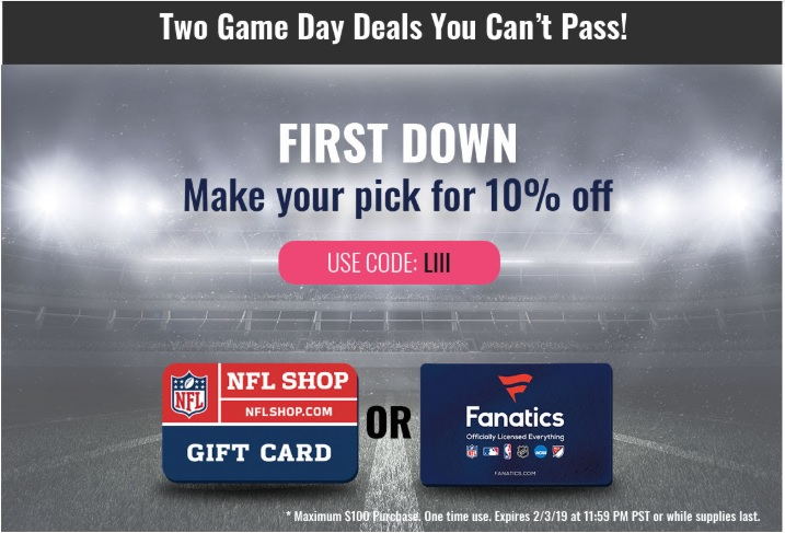 3e854bde32d58 EXPIRED) Swych: Save 10% On NFL Shop & Fanatics Gift Cards With ...