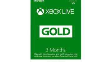 Xbox Live Gold 3 Month Subscription Gift Card