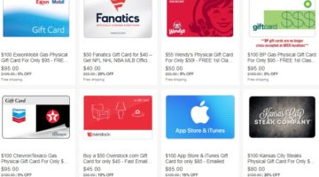 Discounted eBay Daily Deals gift cards 02.04.19