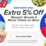 Raise Promo Code DATE Bloomin' Brands Atom Tickets