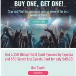Swych Global Hotel Card Live Events Card