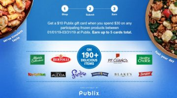 $10 Publix Gift Card $30 Frozen Food