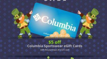 GiftCardMall Columbia Sportswear $5 Off $25