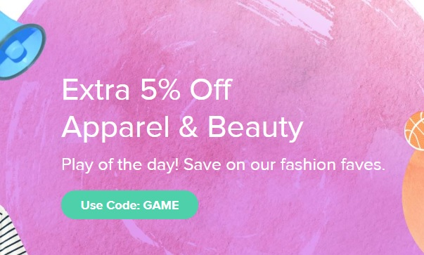 Raise 5% Off Apparel & Beauty Promo Code GAME