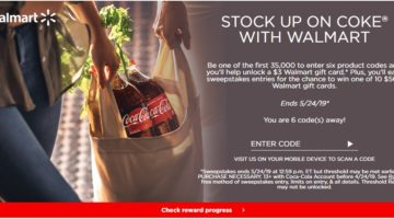 Coke Rewards $3 Walmart Gift Card