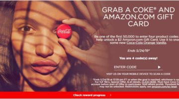 Coke Rewards $2 Amazon Gift Card