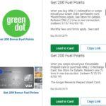 Kroger 200 Fuel Points Green Dot MoneyPak Recharge Reloadable Prepaid Cards