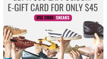 Swych $50 Zappos Gift Card For $45 Promo Code SNEAKS