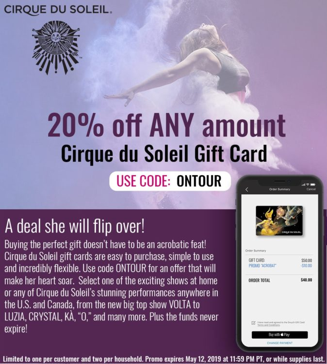 Discount Code For Cirque Du Soleil