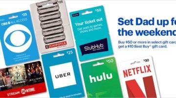 Best Buy Buy $50 Select Gift Cards Get $10 Best Buy Gift Card Free