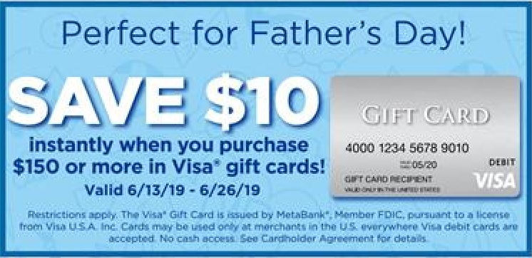 EXPIRED) Giant Eagle: Buy $150+ Visa Gift Cards & Save $10