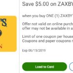 Kroger $5 off Zaxby's gift card
