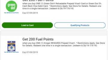 Kroger Green Dot Prepaid Visa
