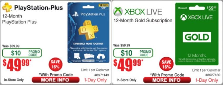 Expired Frys Buy 12 Month Playstation Plus Xbox Live