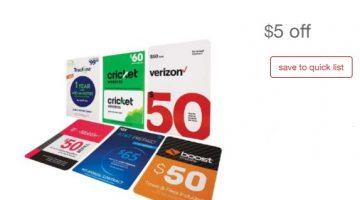 Target Prepaid Phone Gift Cards 07.28.19