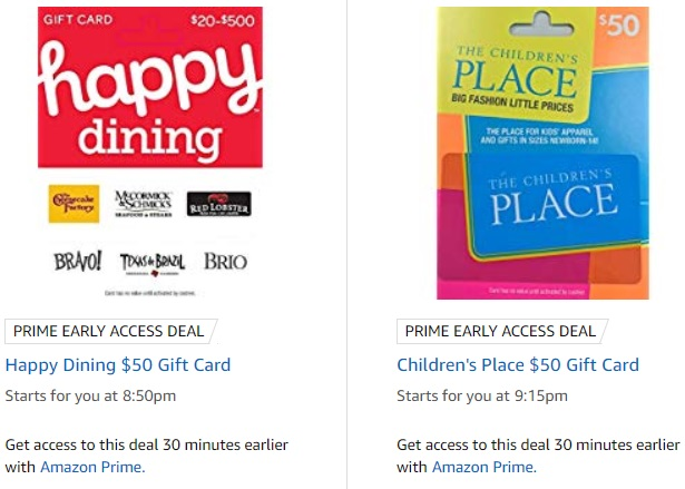 dining gift card deals 2019