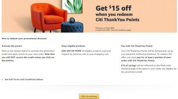 Amazon Citi activation