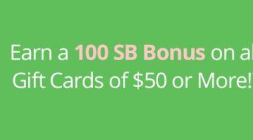 MyGiftCardsPlus 100 bonus Swagbucks 08.13.19