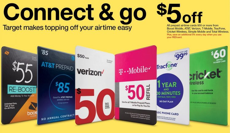 Target: Save $5 Off $50+ Prepaid Phone Gift Cards - GC Galore