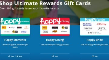 Chase Ultimate Rewards Happy Gift Cards