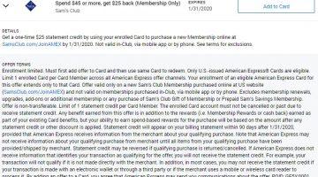 Sam's Club Amex Offer