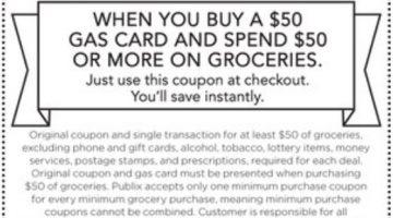 Publix Gas Gift Card 11.05.19