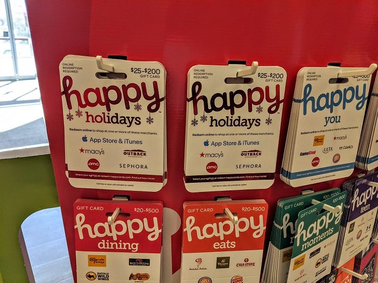 Alternative Happy Holidays gift card