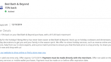 Bed Bath & Beyond Chase Offer