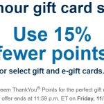 Citi ThankYou 15% Off Gift Cards