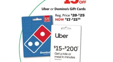 Family Dollar Uber Domino's 15% Off
