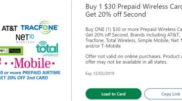 Kroger prepaid phone gift card