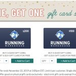 Running Warehouse gift cards