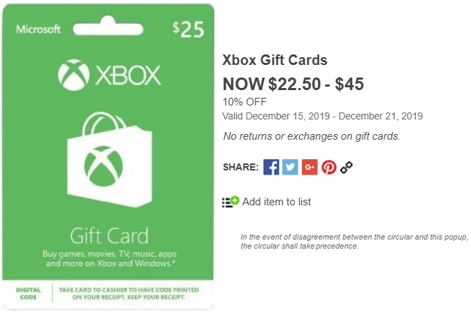 xbox gift card gift cards