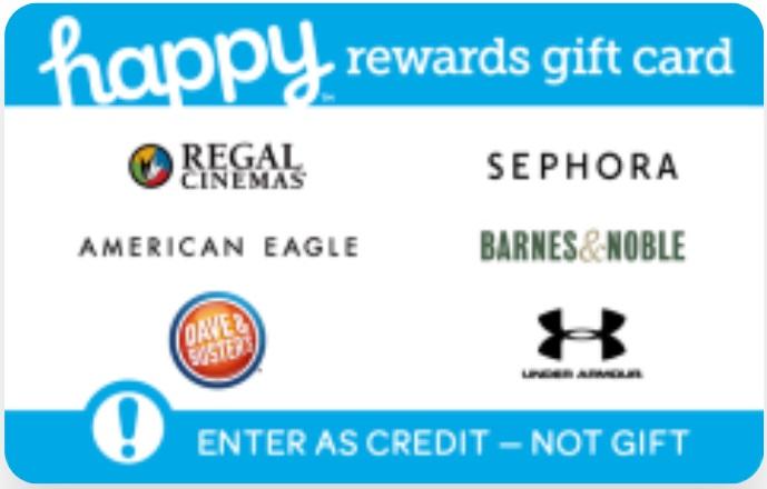 Happy Rewards Gift Card