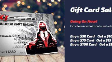 K1 Speed Gift Card Promo
