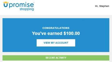 Upromise $100 bonus