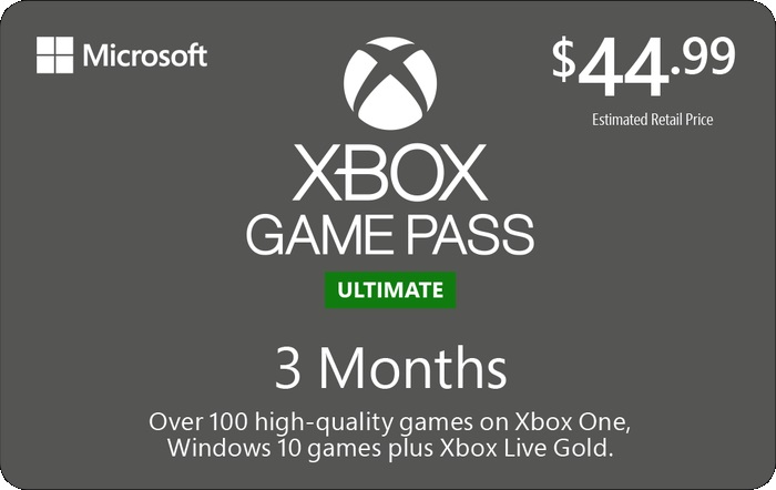 Xbox Game Pass Gift Card
