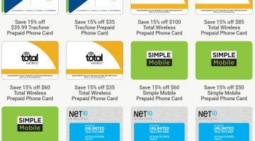 Kroger Prepaid Phone Gift Cards 01.15.20