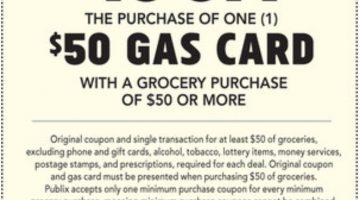Publix Gas Gift Card 01.29.20