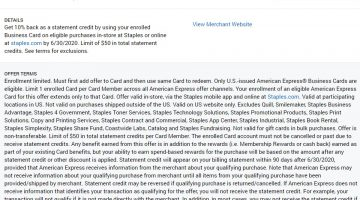 Staples Amex Offer 01.21.20