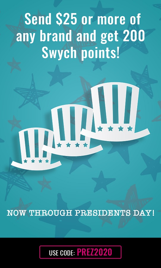 Expired Swych Buy Any 25 Gift Card Get 200 Swych Points With