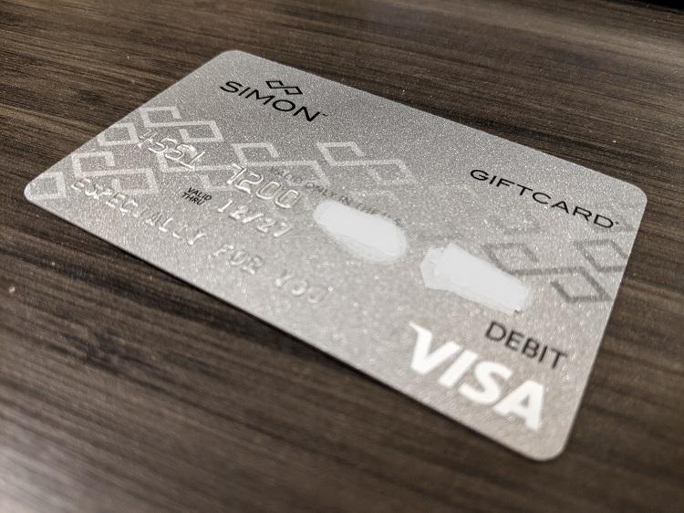 Simon Mall Visa Gift Card